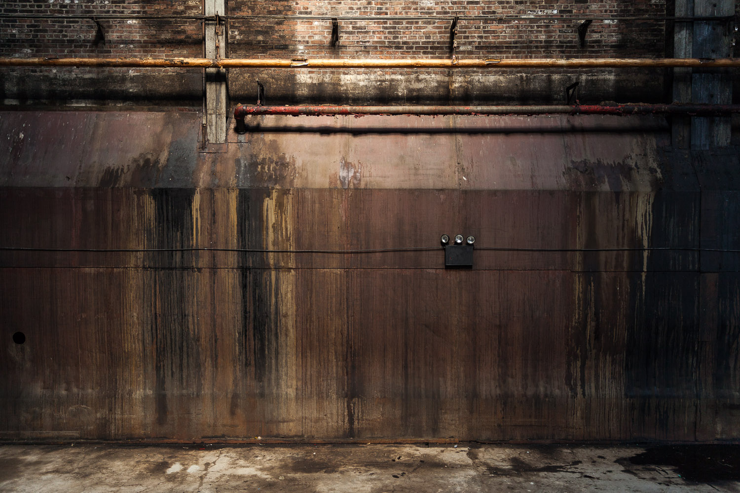 Rusted Sugar Wall, Raw Sugar Warehouse, Domino Sugar Factory