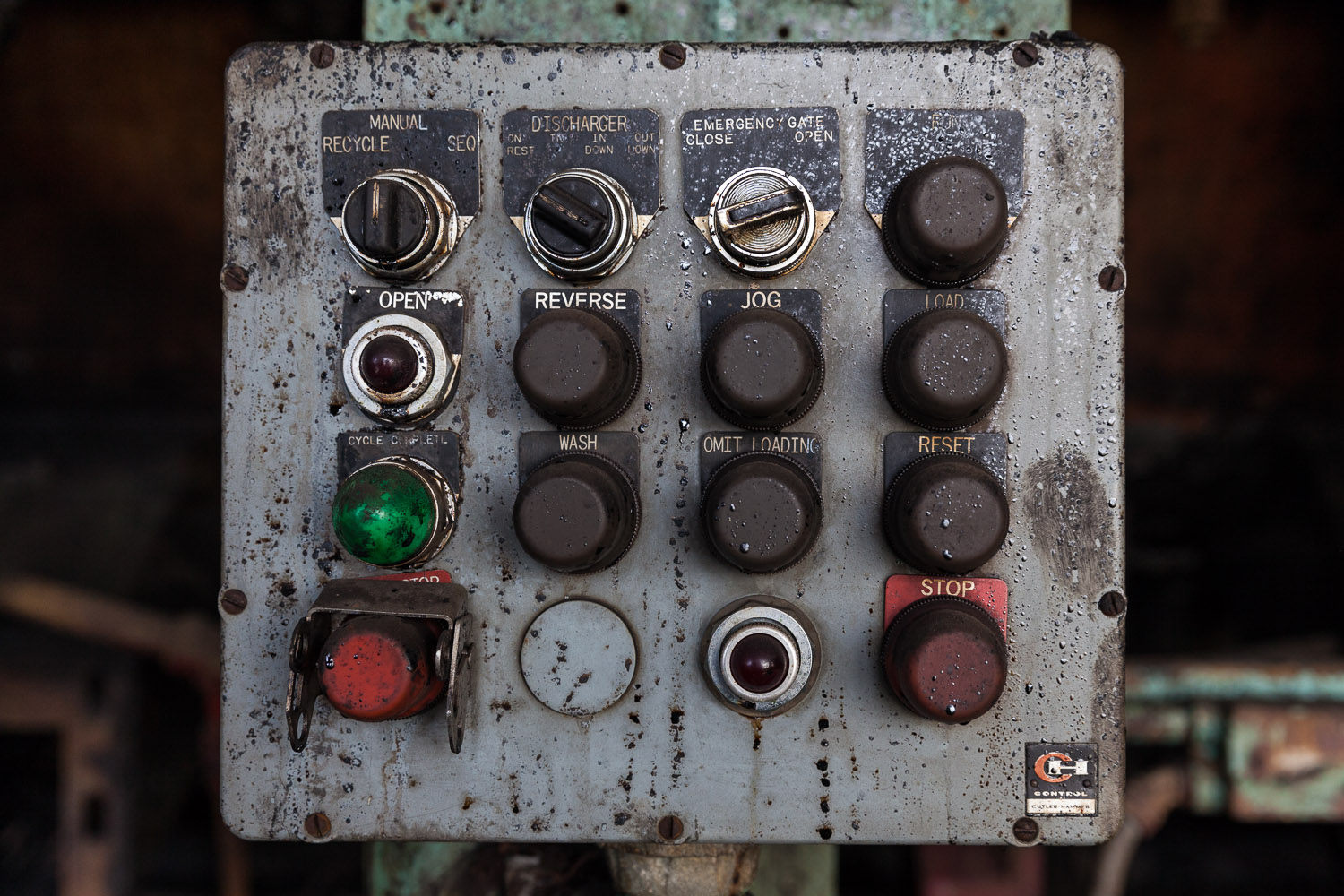 Roberts Centrifugal Machine Control Panel, Second Floor, Raw Sugar Wash House, Domino Sugar Factory