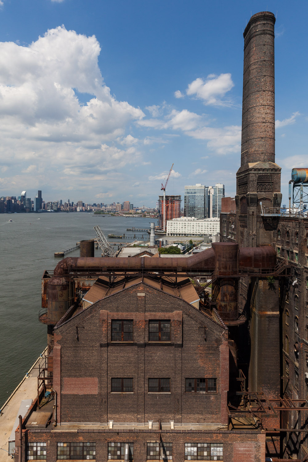 Boiler House, View from the Bin Structure Looking North, Domino Sugar Factory