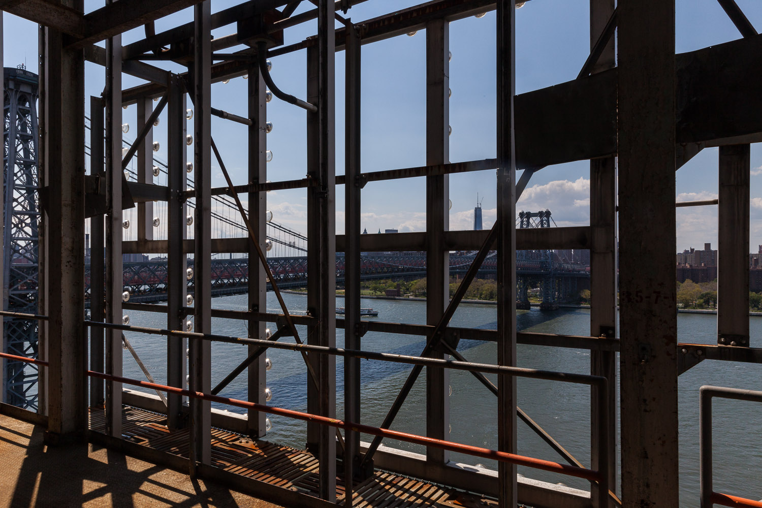 Looking Southwest towards the Williamsburg Bridge and Manhattan, Bin Structure, Domino Sugar Factory