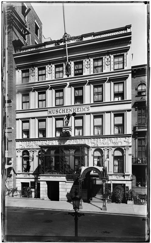 Muschenheim's Arena Restaurant, 39 West 31st Street.   ca.   1892-1895. George P. Hall and Son.   Museum of the City of New York 92.53.64