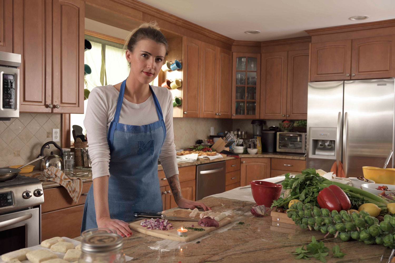 Mary Mattern,Vegan Chef nomyourself.com  environmental portrait for Nikon, I AM GENERATION IMAGE