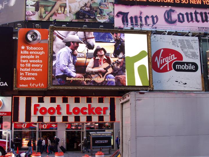 truth, door knob,  times square billboard, harlan erskine