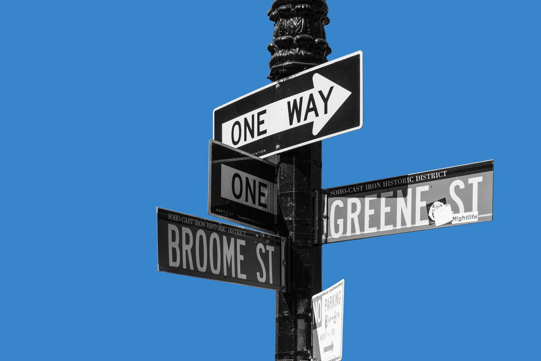 Broome St. and Greene St., SoHo, New York City