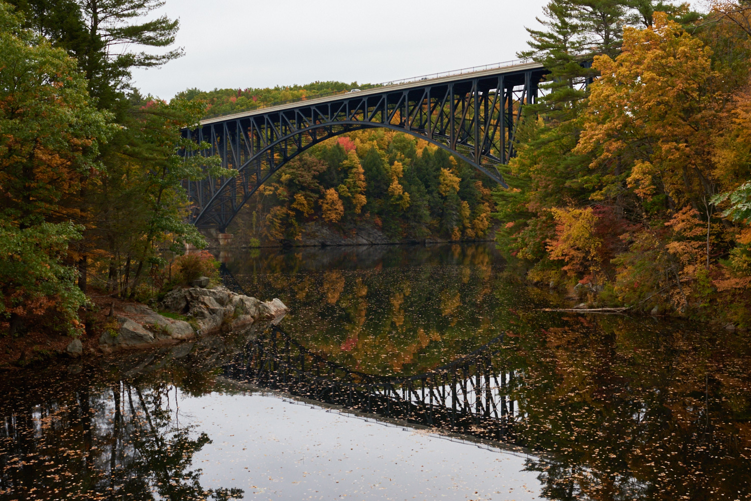 French King Bridge, Millers Falls, MA. © 2016 harlan erskine.