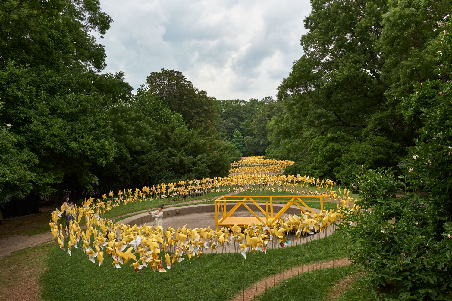 Overview of the Connective Project in Prospect Park, Brooklyn. Image © harlan erskine