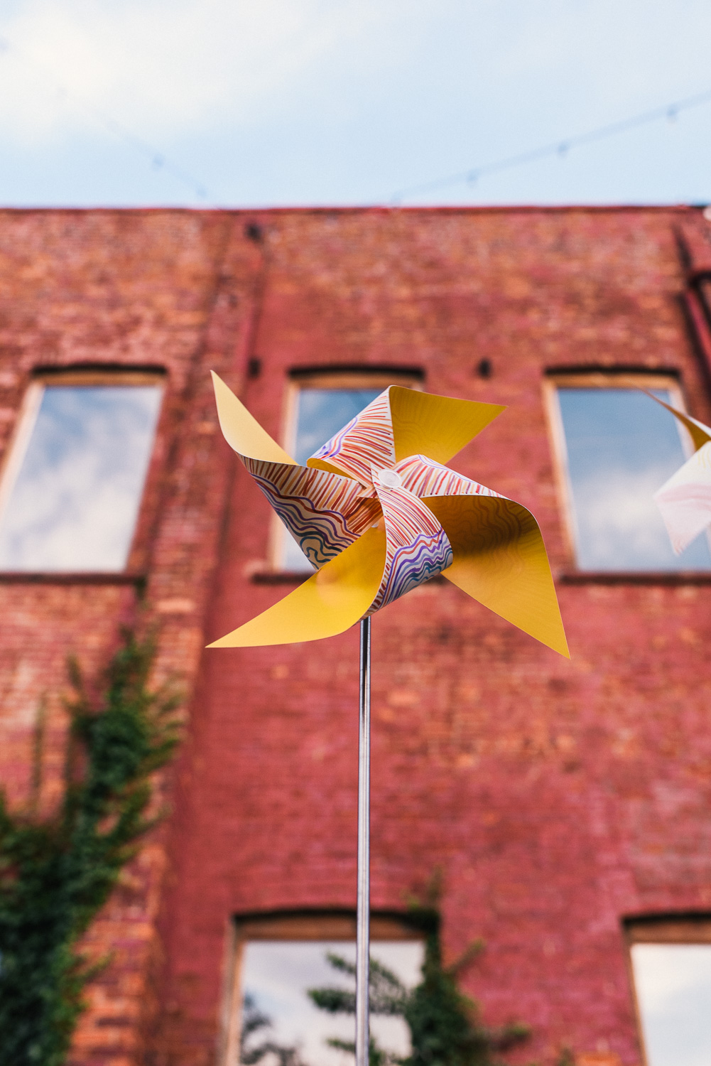 A pinwheel close up.  #connectiveproject at Pioneer Works