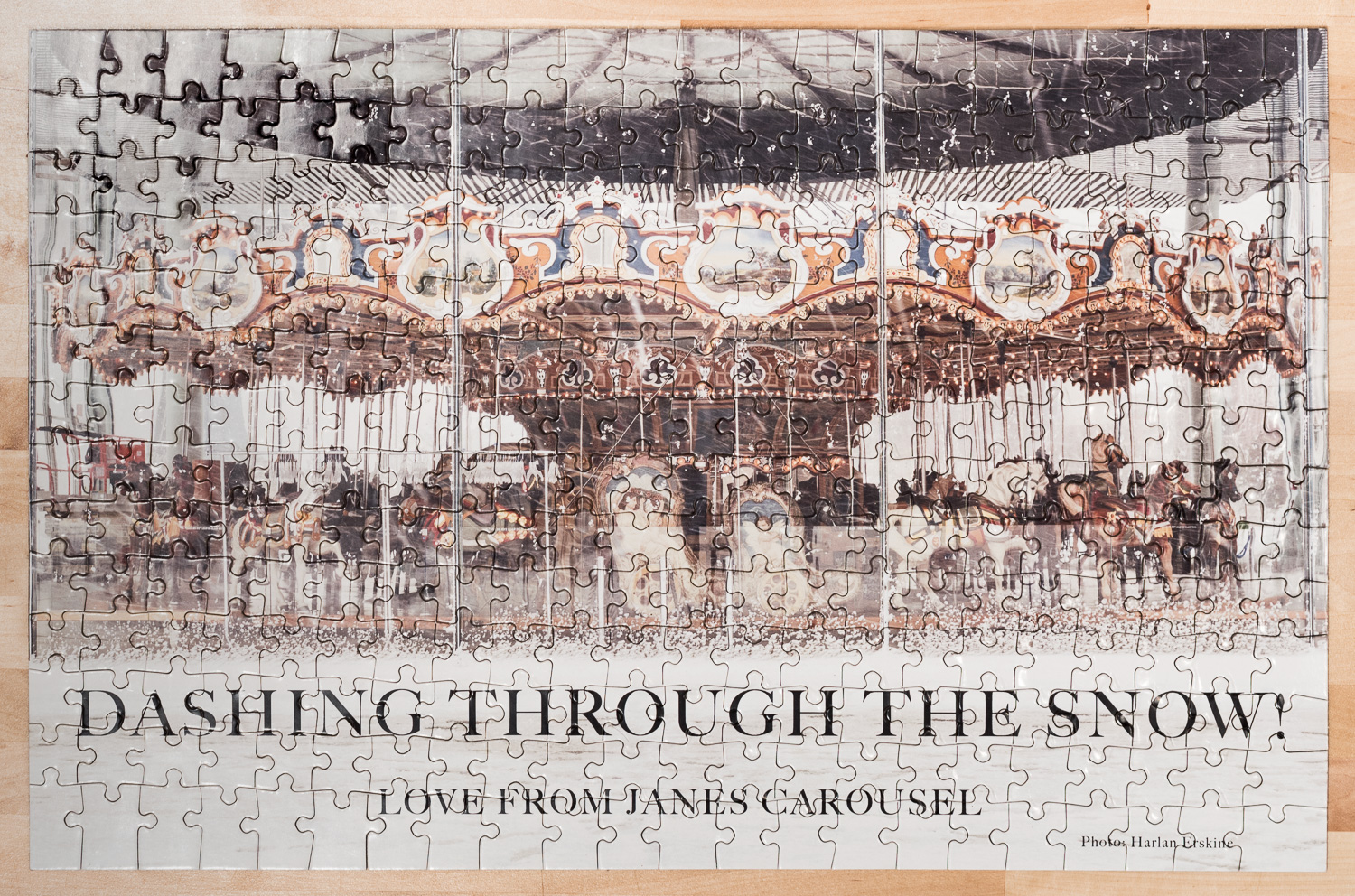 """Dashing Through the Snow! Love from Jane's Carousel Photo: Harlan Erskine"""