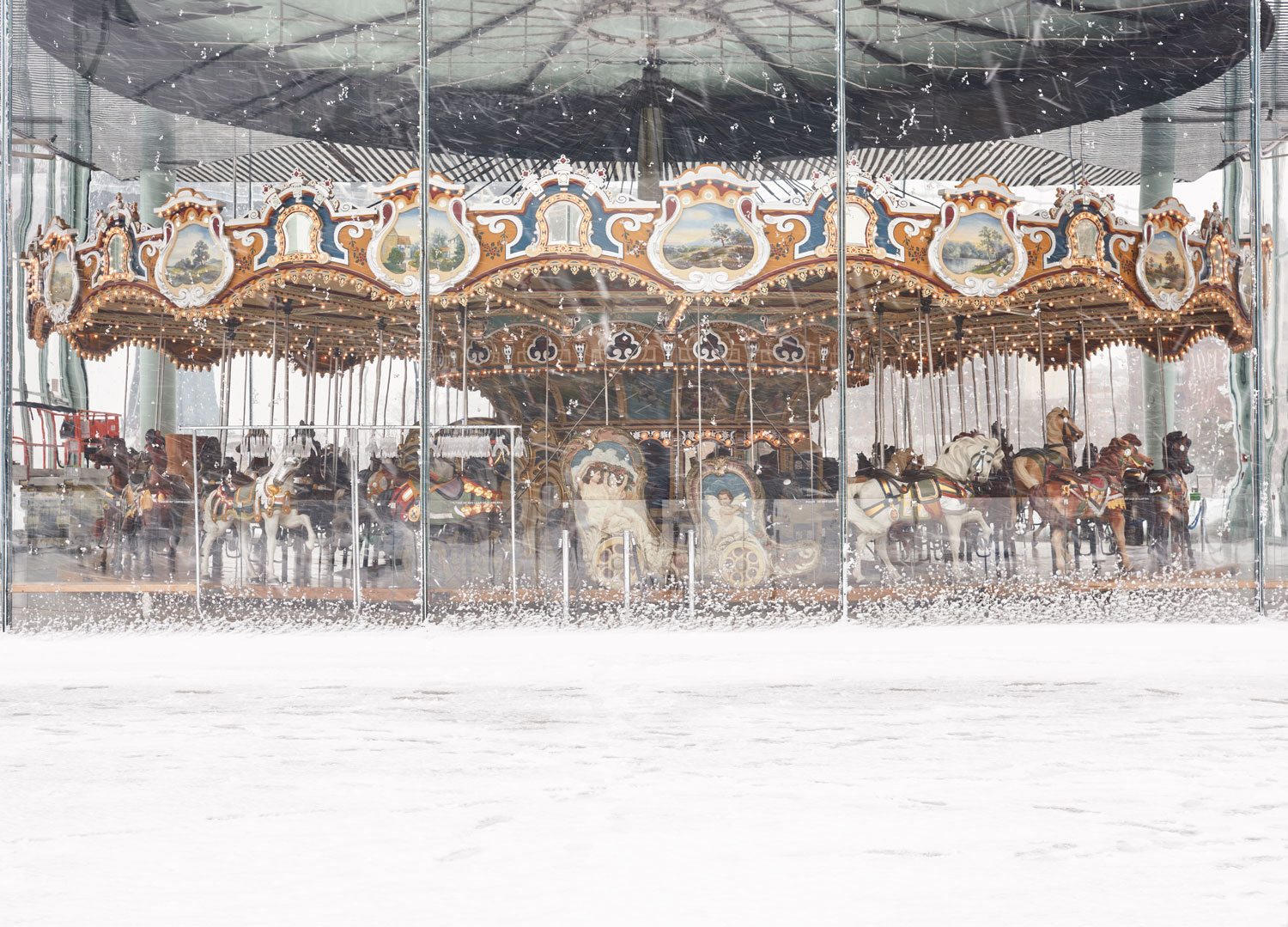 'Blizzard and Jane's Carousel' © 2017 harlan erskine