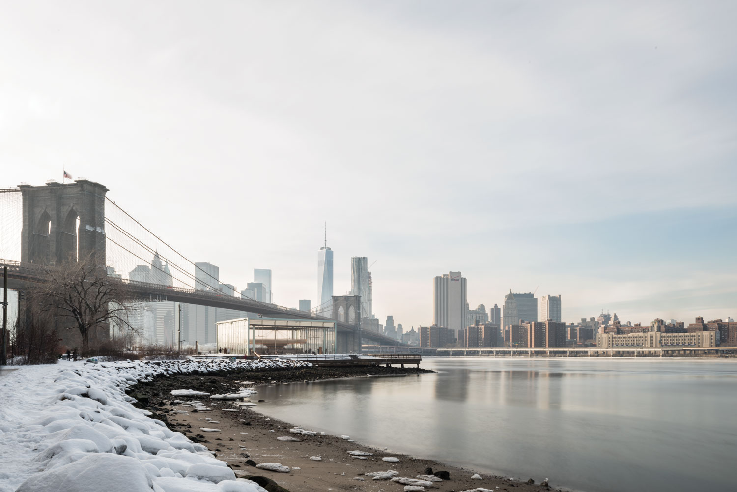 'Winter over Brooklyn Bridge and Jane's Carousel' © harlan erskine.