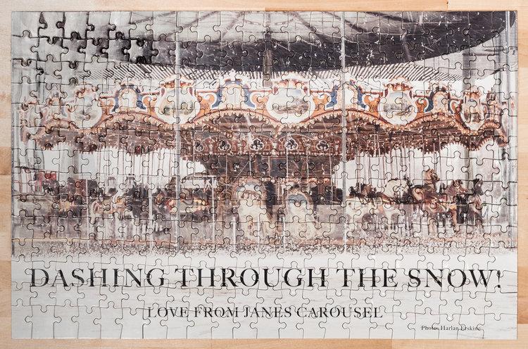 """""""Dashing Through the Snow! Love from Jane's Carousel Photo: Harlan Erskine"""" © harlan erskine."""