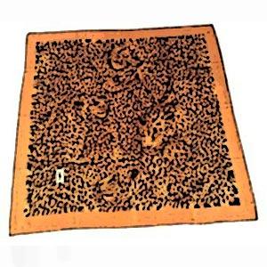 YSL leopard silk square,  USD$125
