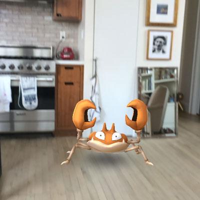Pokemon in the kitchen