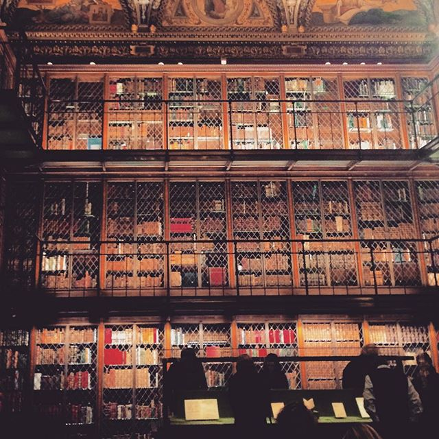 Three levels of books (and a secret staircase) at the Morgan Library
