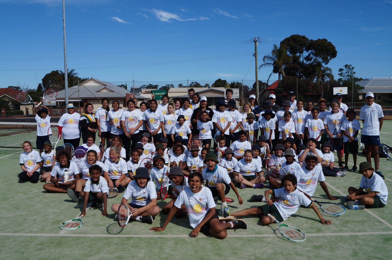 A total of 76 children in Narrogin, all looking deadly in our Evonne Goolagong Foundation shirts