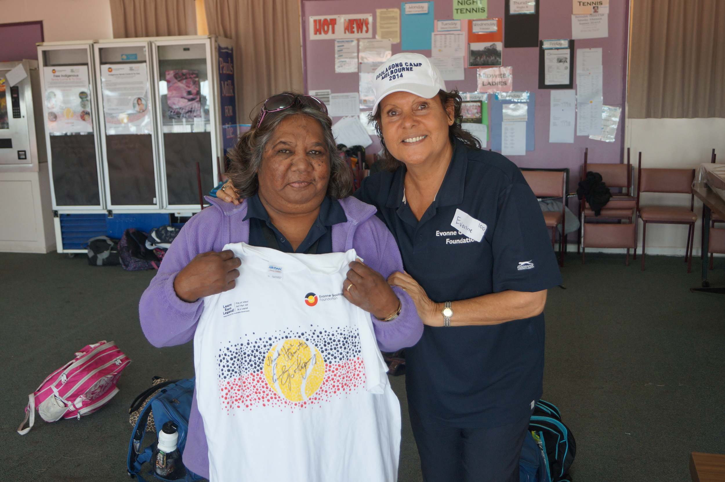 Evonnewith Aunty Dottie who delivered a warm and beautiful 'Welcome to Country'