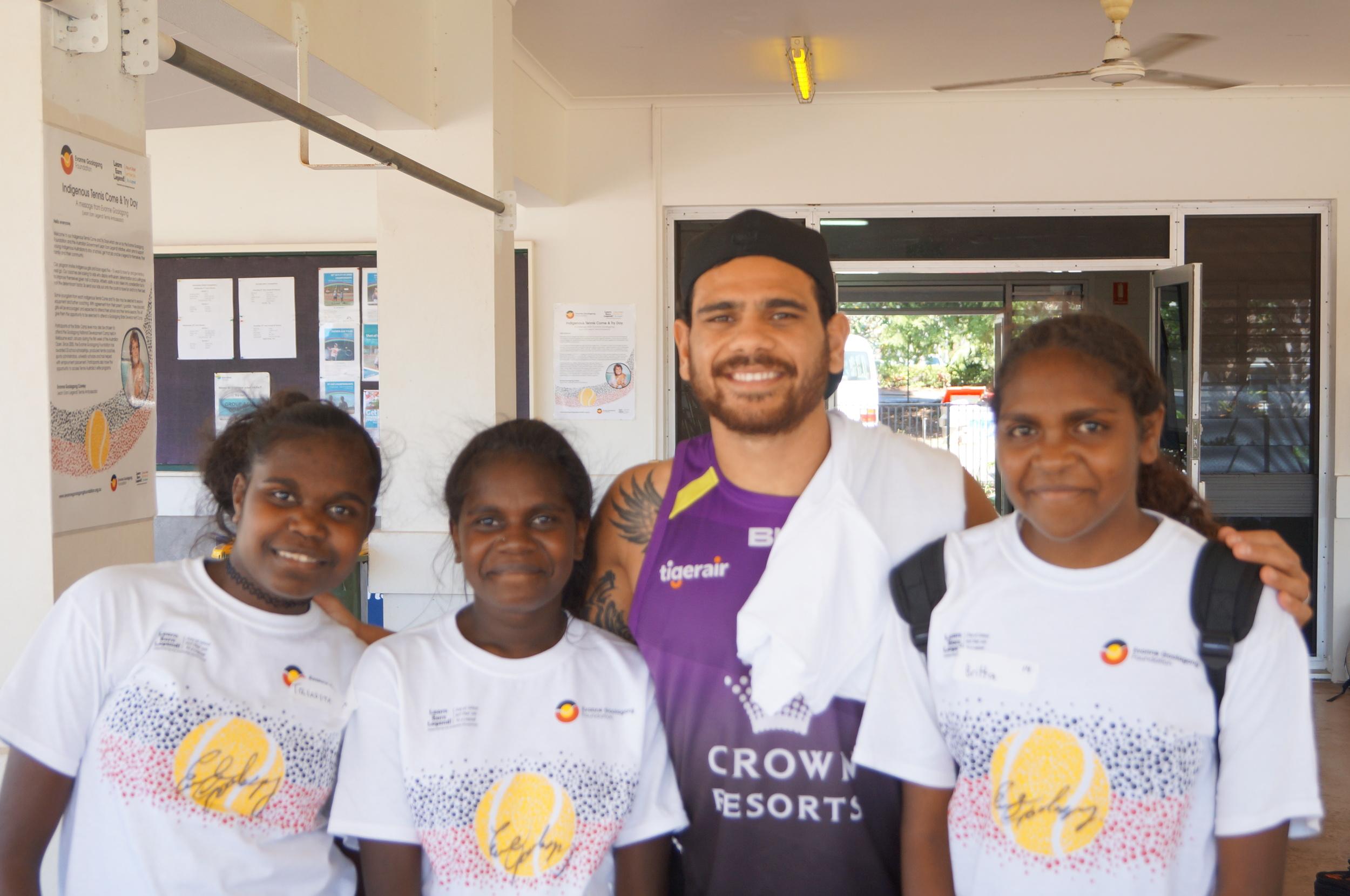 AFL star Cyril Rioli visits C&T day in Darwin