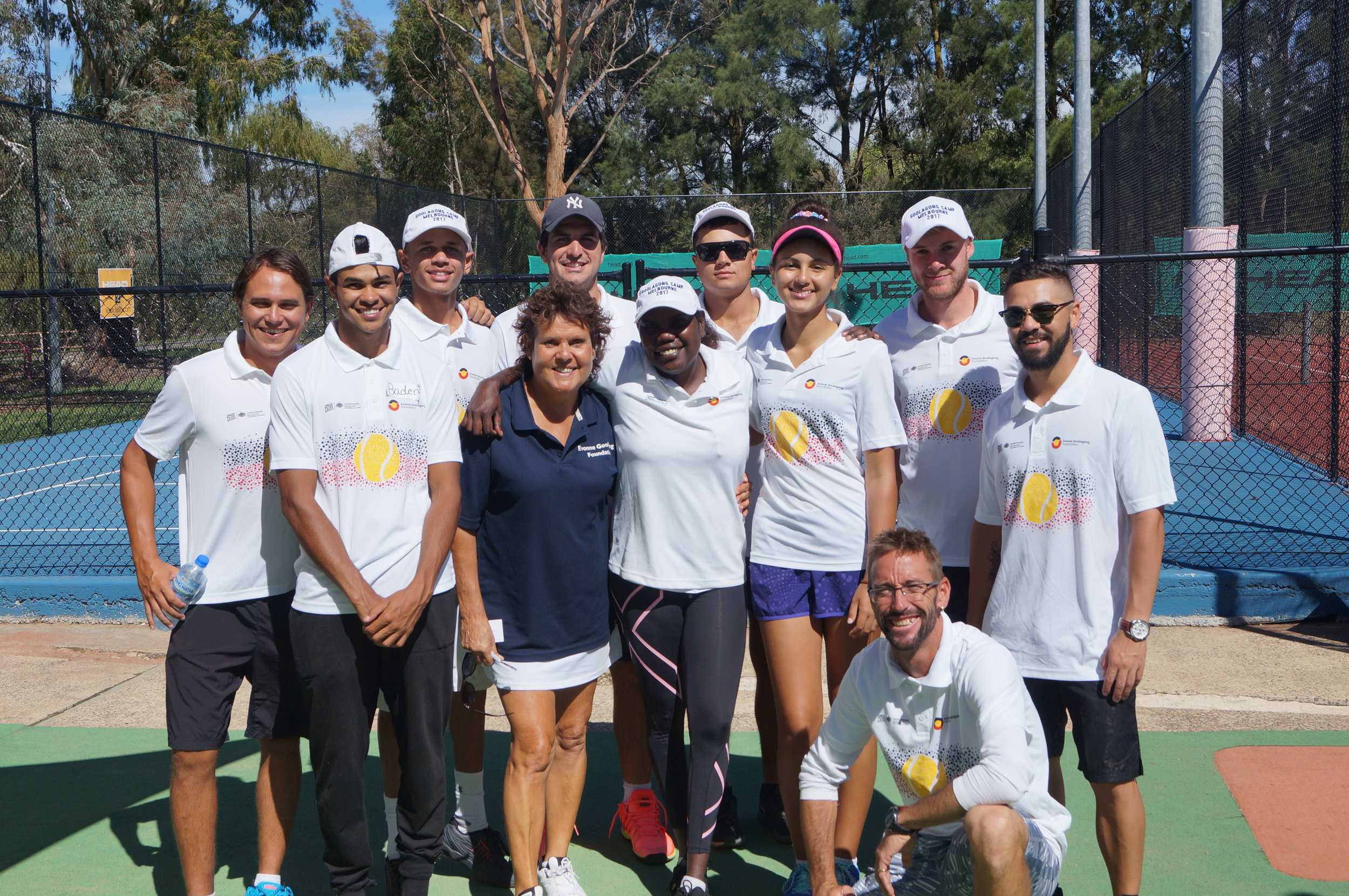 From left Head Coach and Project Co-ordinator Anzac Leidig and his hard working Canberra team, Baden, Tyrell, Evonne, Adam, Tarlina, Dwayne, Tiarna Jarred, Ben and Matt