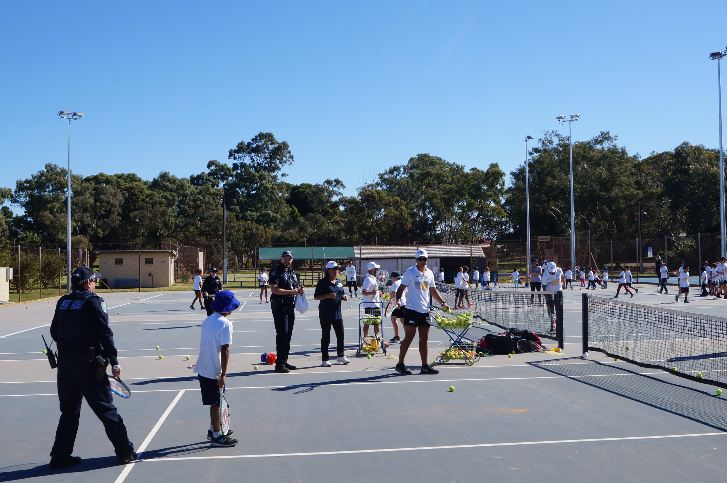 Everyone delighted to have the Port Augusta Police join in on the courts