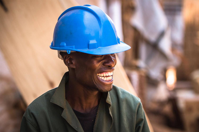 "Skilled woodworker employed by Zynab Kamwendo in Lilongwe, Malawi   14°0'20"" S 33°47'33"" E"