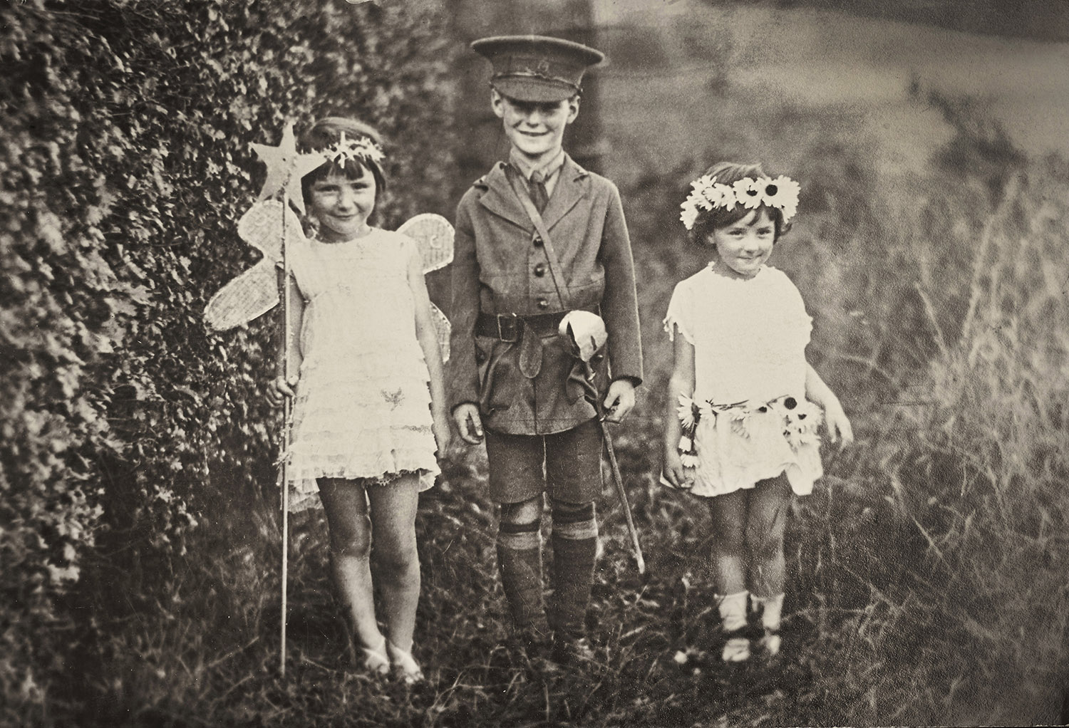 A charming black and white photograph from the 1920's