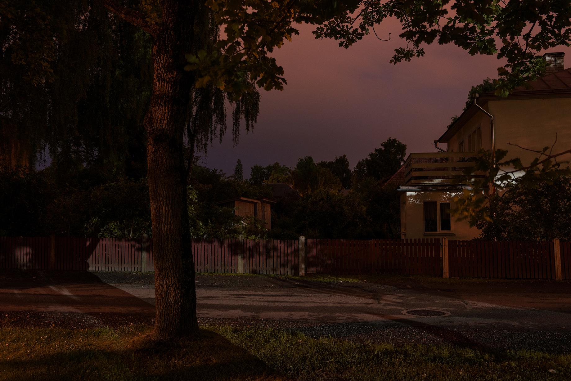 July Night on an Avenue