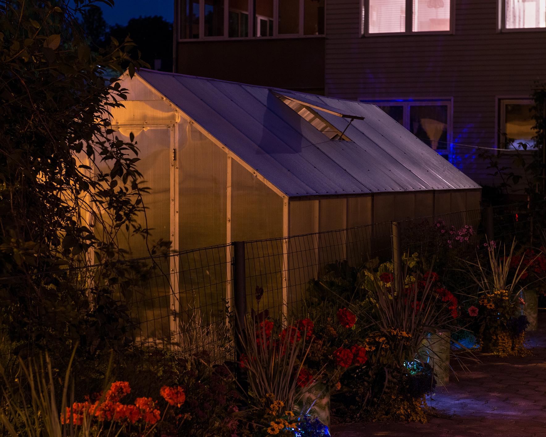 Greenhouse in a Garden