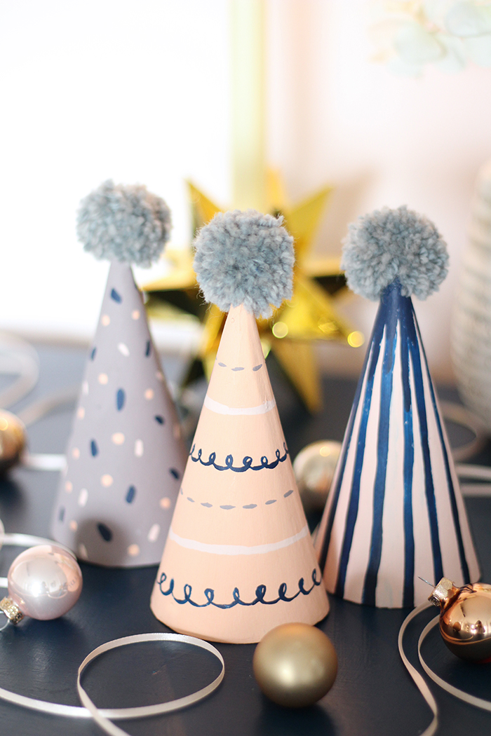 handmade painted pattern party hats dulux christmas diy hello nancy blog 3.jpg