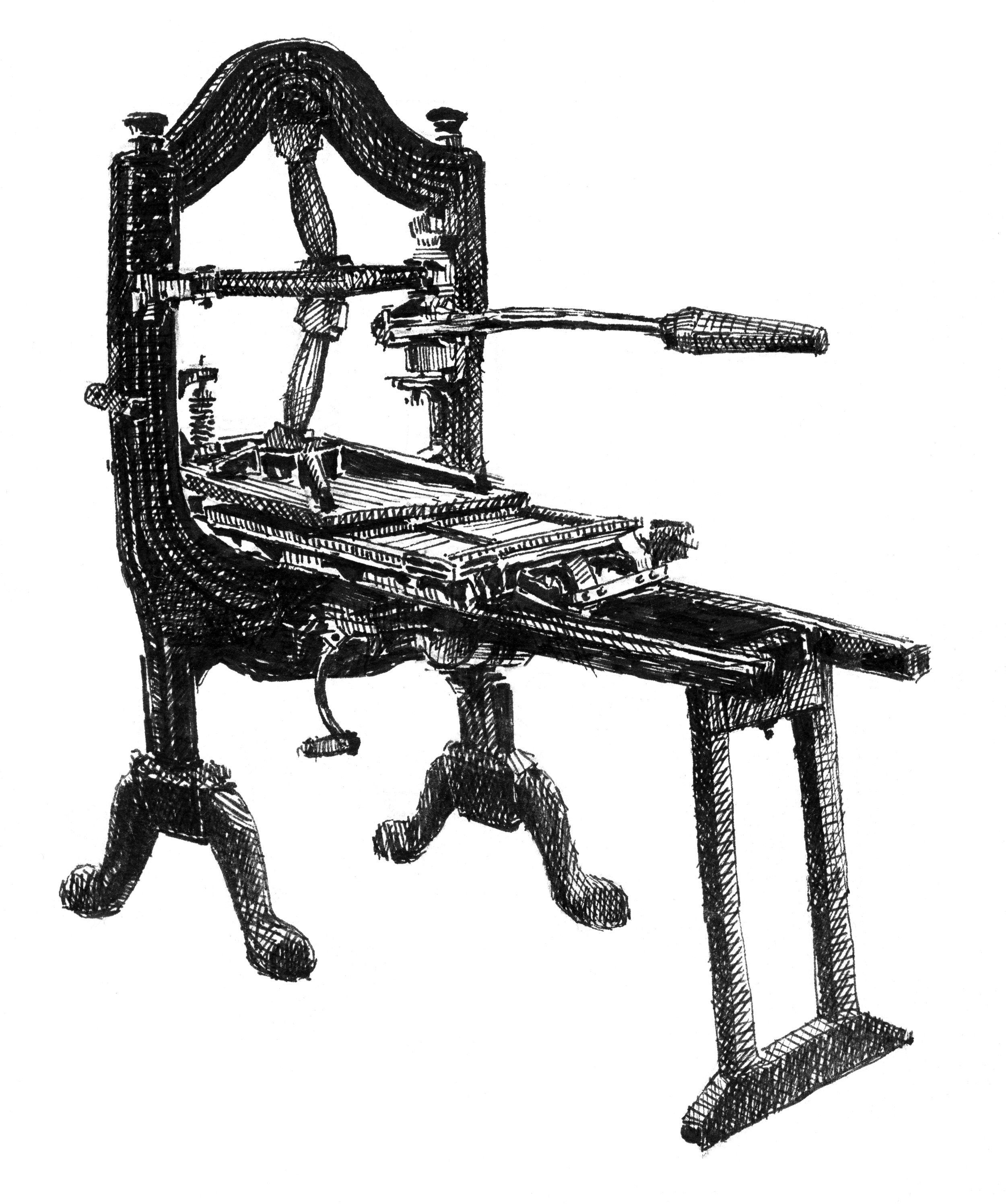 1820 Wells Iron Hand Press