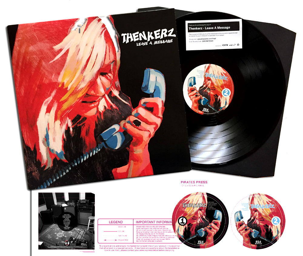 "Thenkerz 4 Color CMYK LP 12"" (digital production based on a painting by K. Keith) on Red Handed Records."
