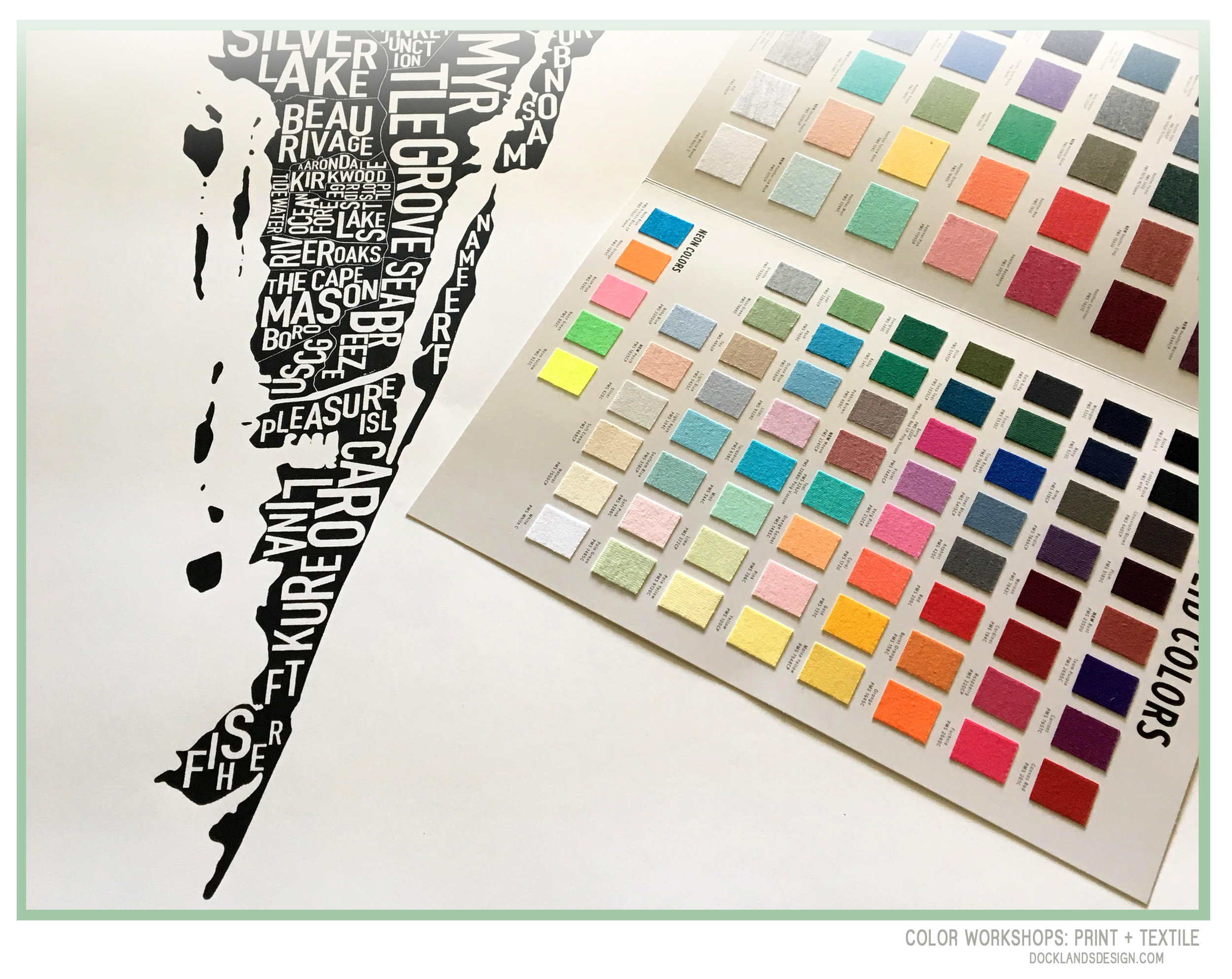 Color Swatch and Development for Printmaking on Paper and Textiles