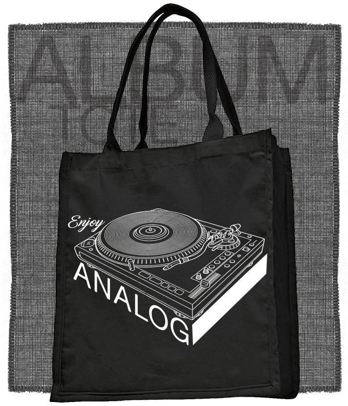 Record Player Enjoy Analog Tote or T-Shirt