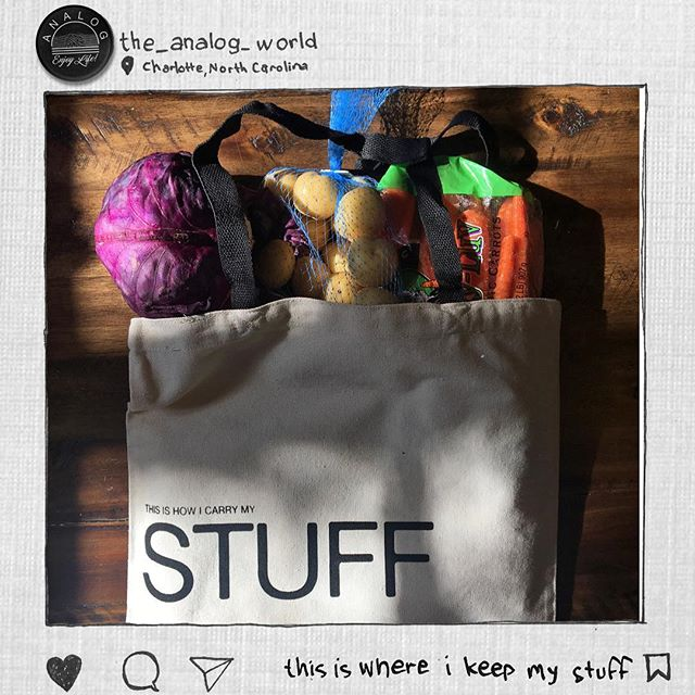 #stuff #tote #analog