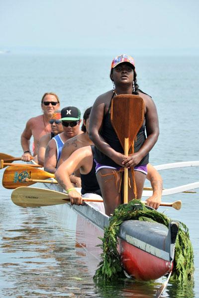Chenae Bullock asks permission to come ashore.