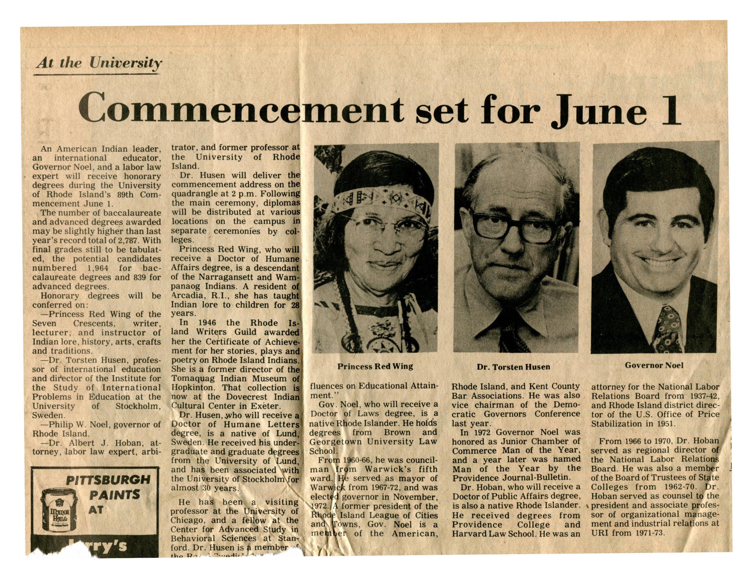 Image: Narragansett Times, May 15, 1975