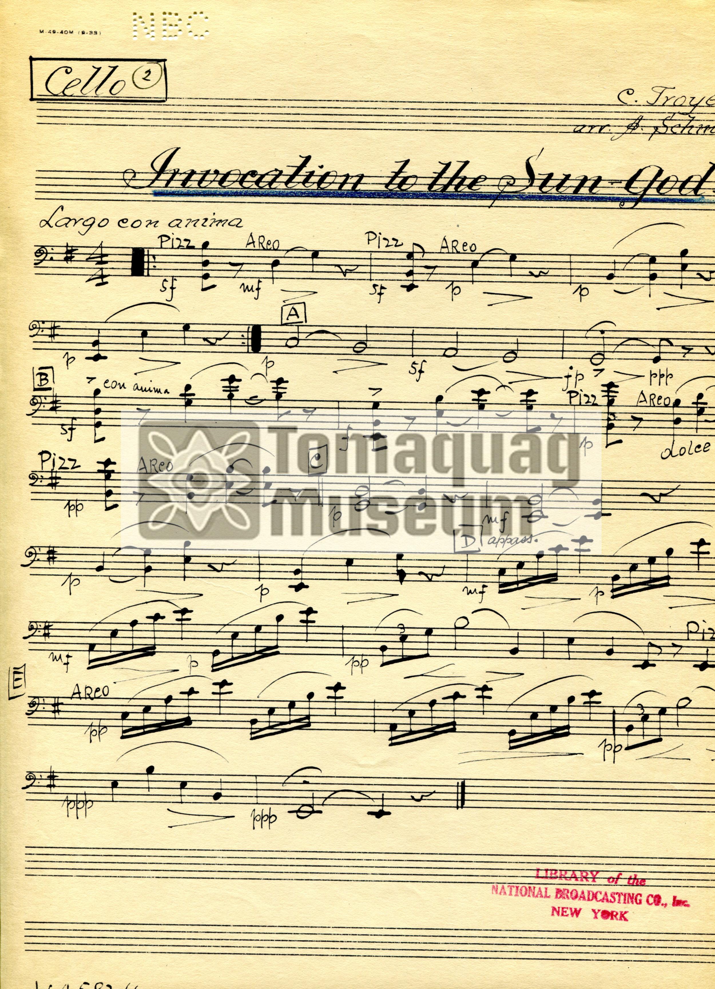 HoteCasellaInvocation of the Sun God Sheet Music Cello.jpg