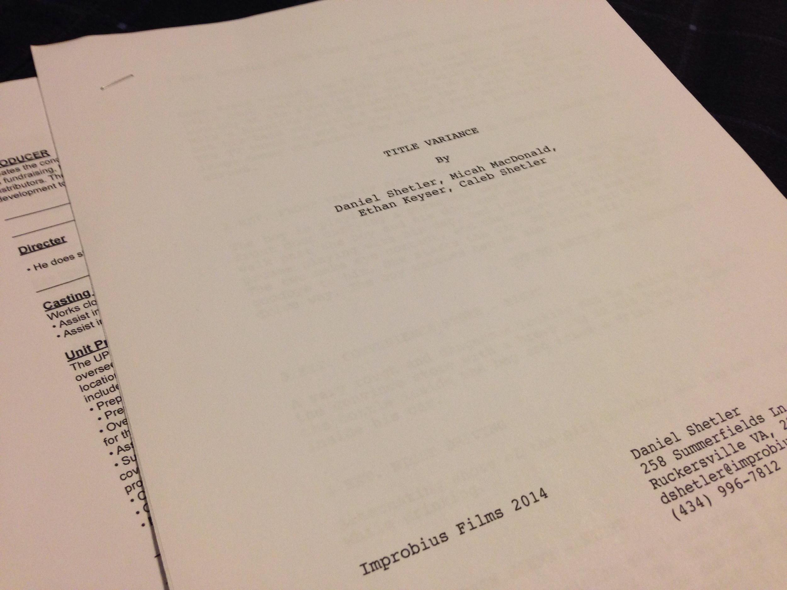 Title Variance Script
