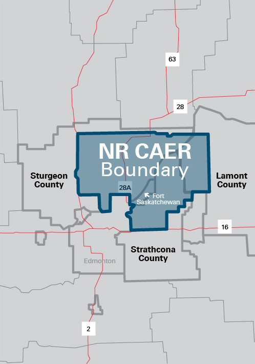 The NRCAER  geographic boundary is shown above.