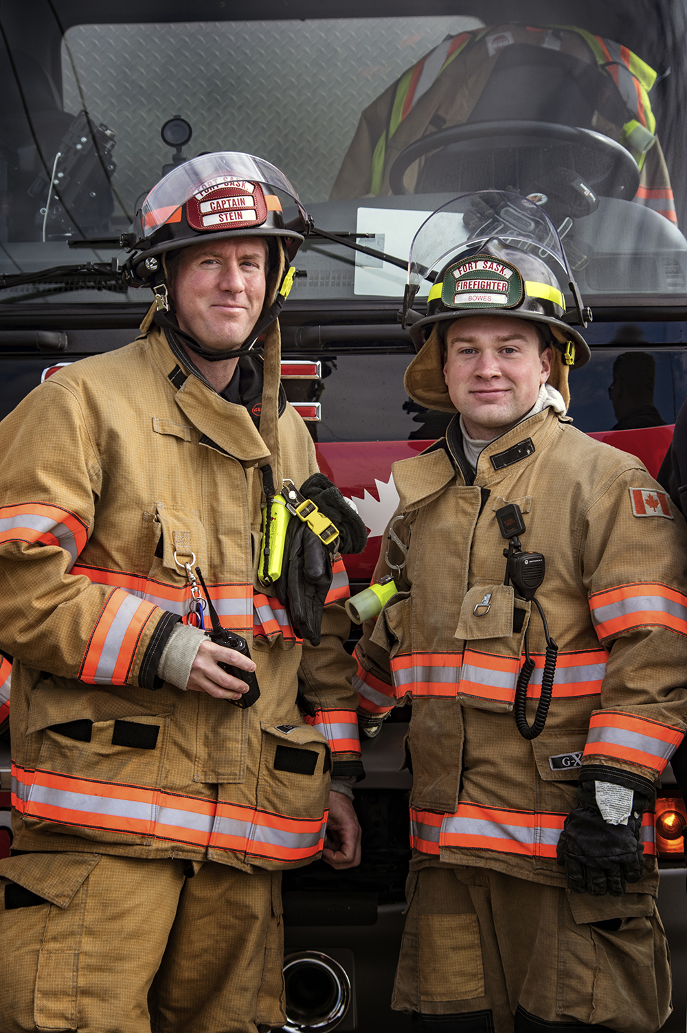 Captain Stein and Firefighter Bowes - Fort Sask
