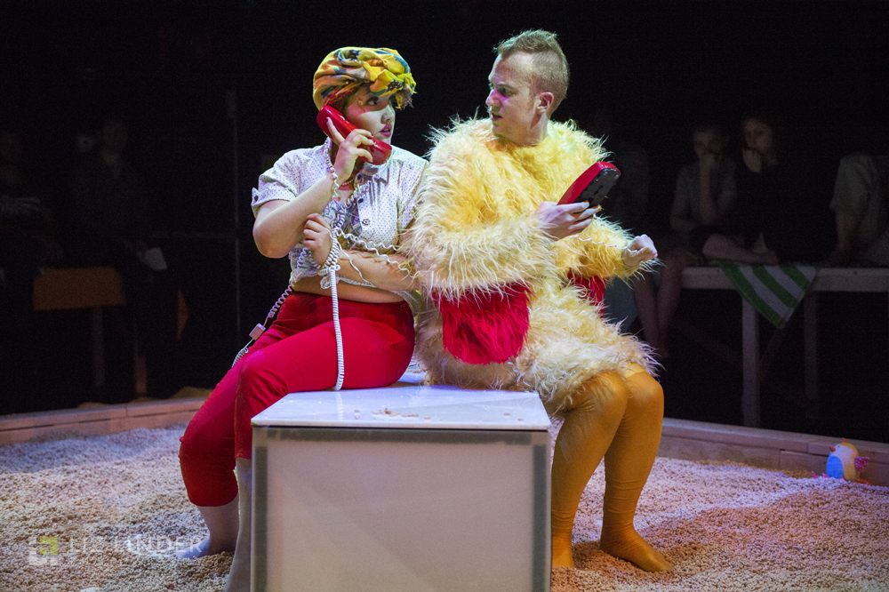 With soprano Aliana de la Guardia, from Guerrilla Opera's production of  Gallo . Photo by Liz Linder Photography