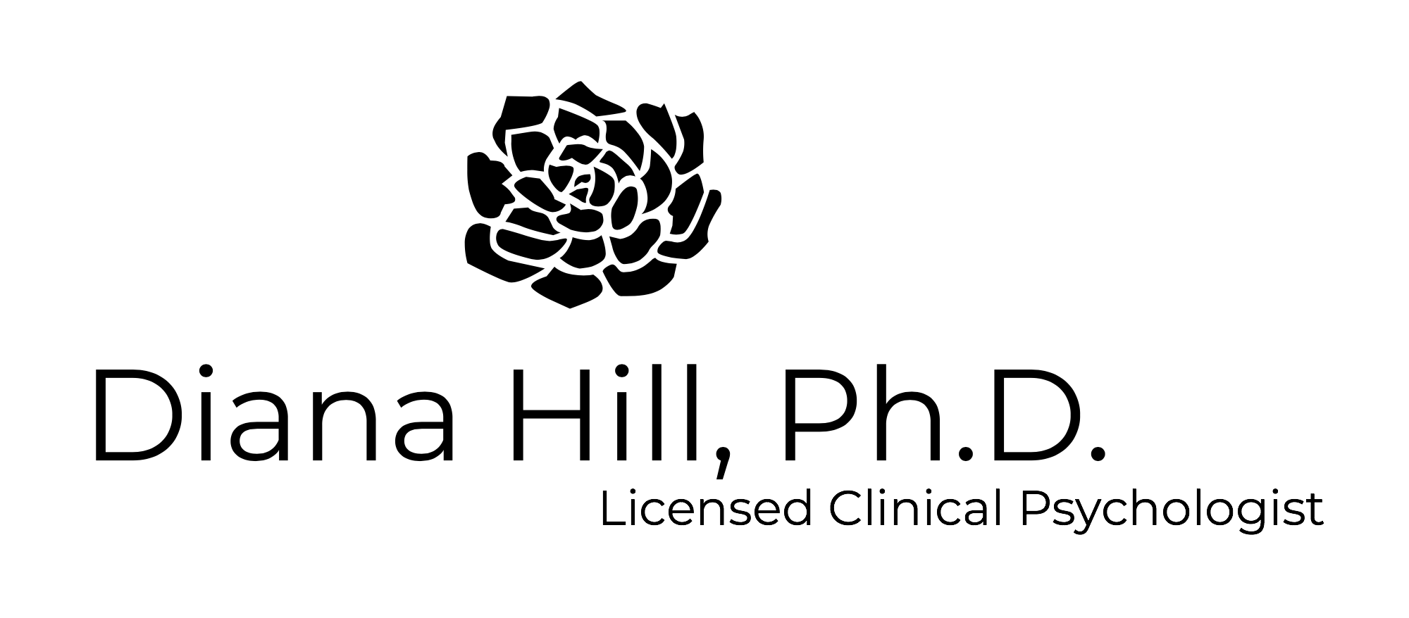 Logo Dr. Diana Hill (Black).png