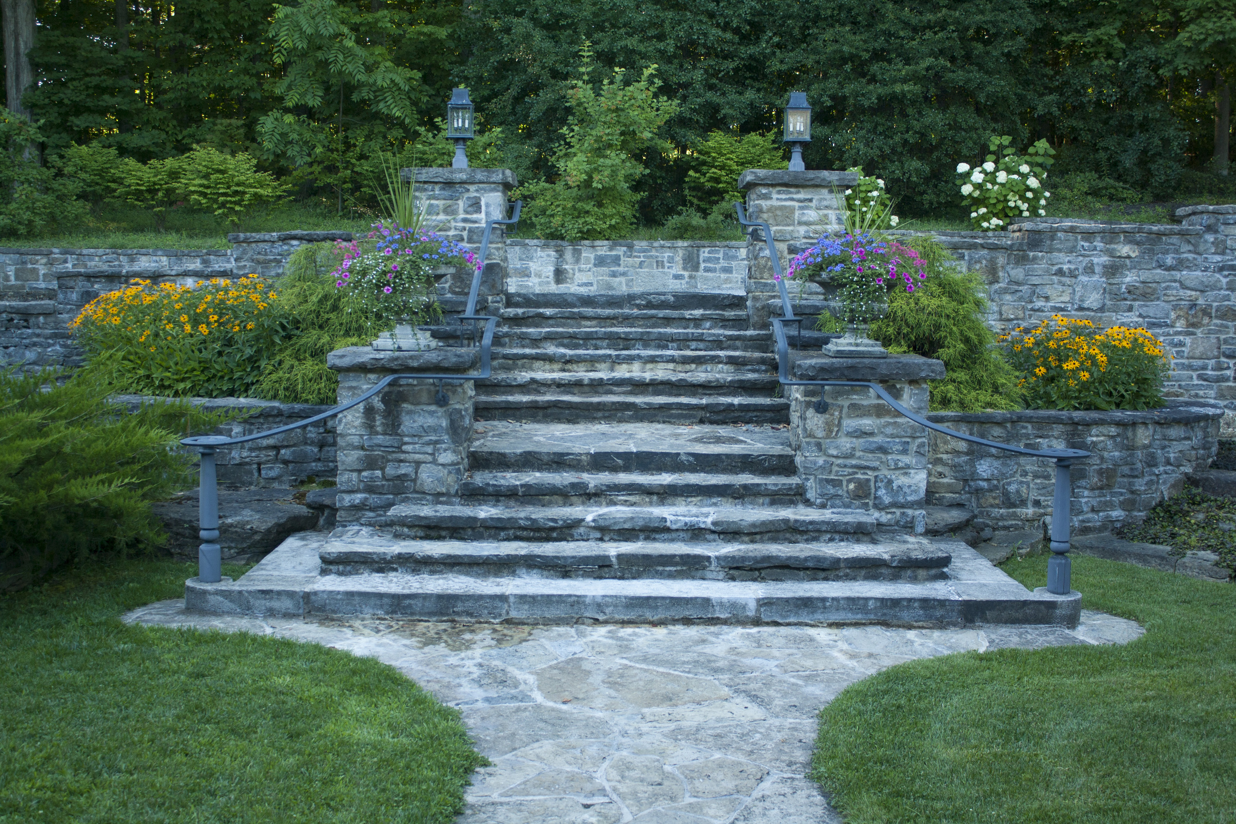 New Home With A Heritage Feel   Stone Steps   Landscape Architecture   Riverview Design Solutions   Prescott, Ontario, Canada