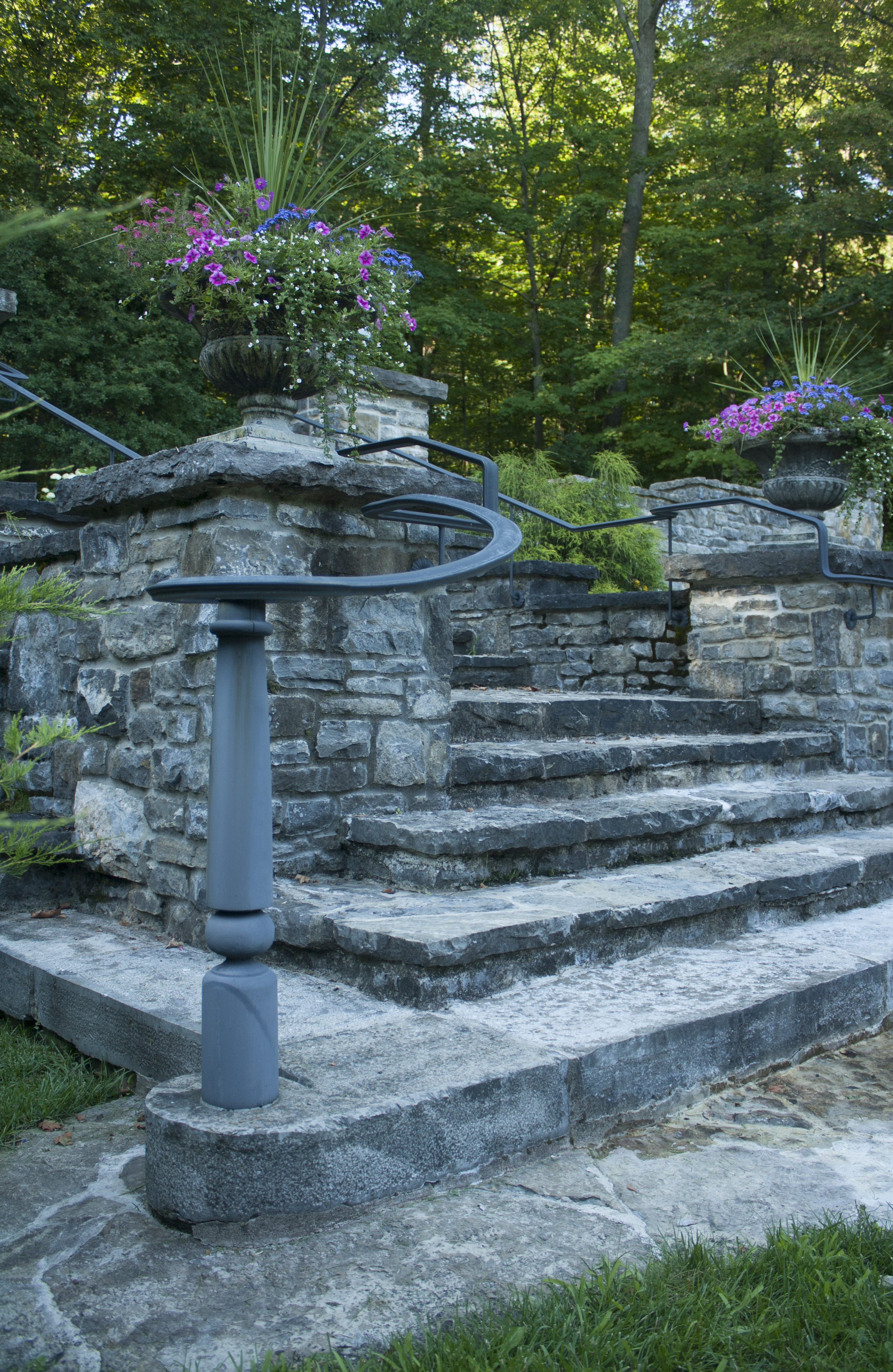 New Home With A Heritage Feel | Stone Steps | Landscape Architecture | Riverview Design Solutions | Prescott, Ontario, Canada