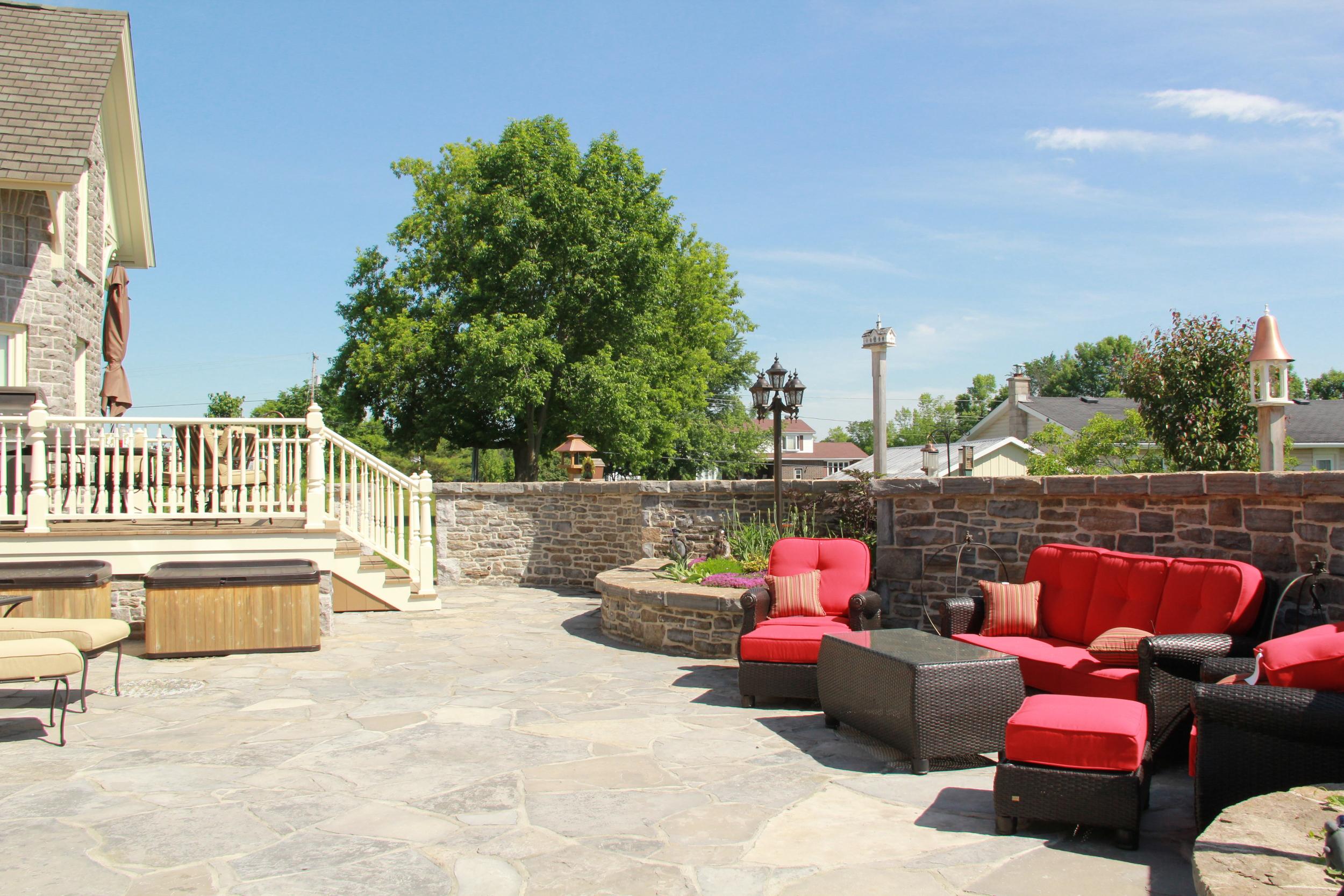 Country Home | Stone House | Patio | Landscape Design | Landscaping | Riverview Design Solutions | Prescott, Ontario, Canada