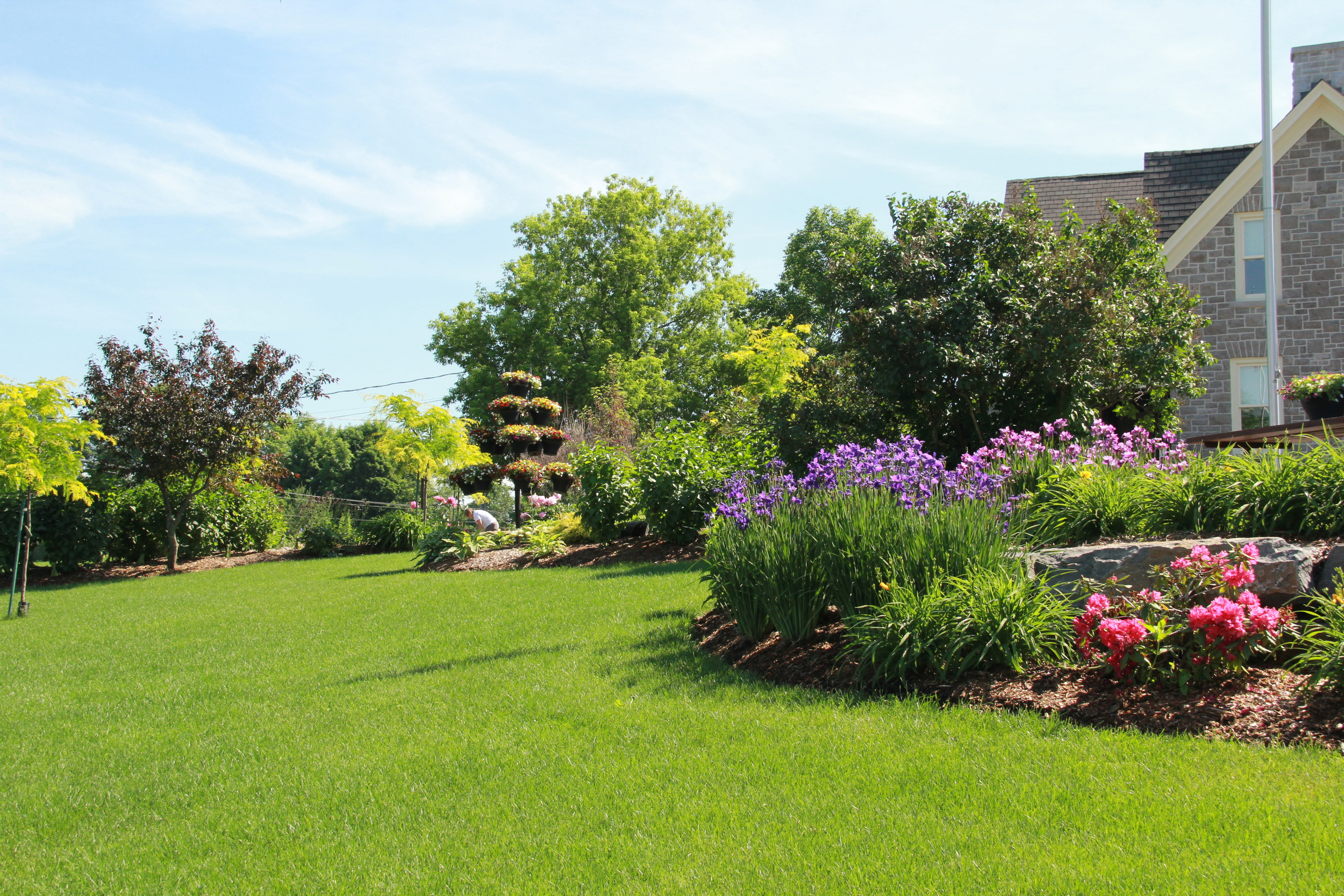Country Home | Stone House | Flower Garden | Landscape Design | Landscaping | Riverview Design Solutions | Prescott, Ontario, Canada3