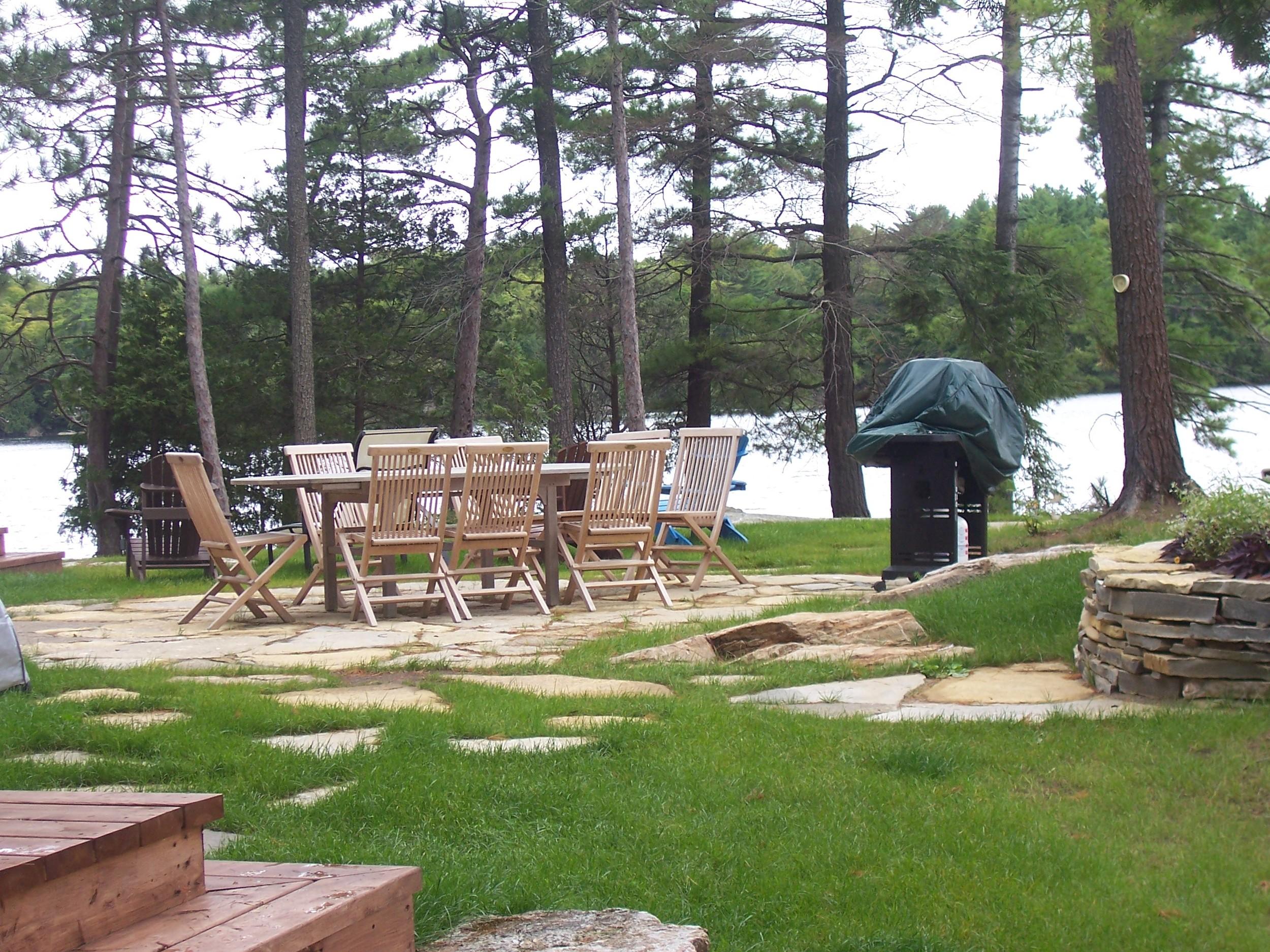Charleston Lake Cottage | Stone Patio | Landscaping | Riverview Design Solutions | Prescott, Ontario, Canada