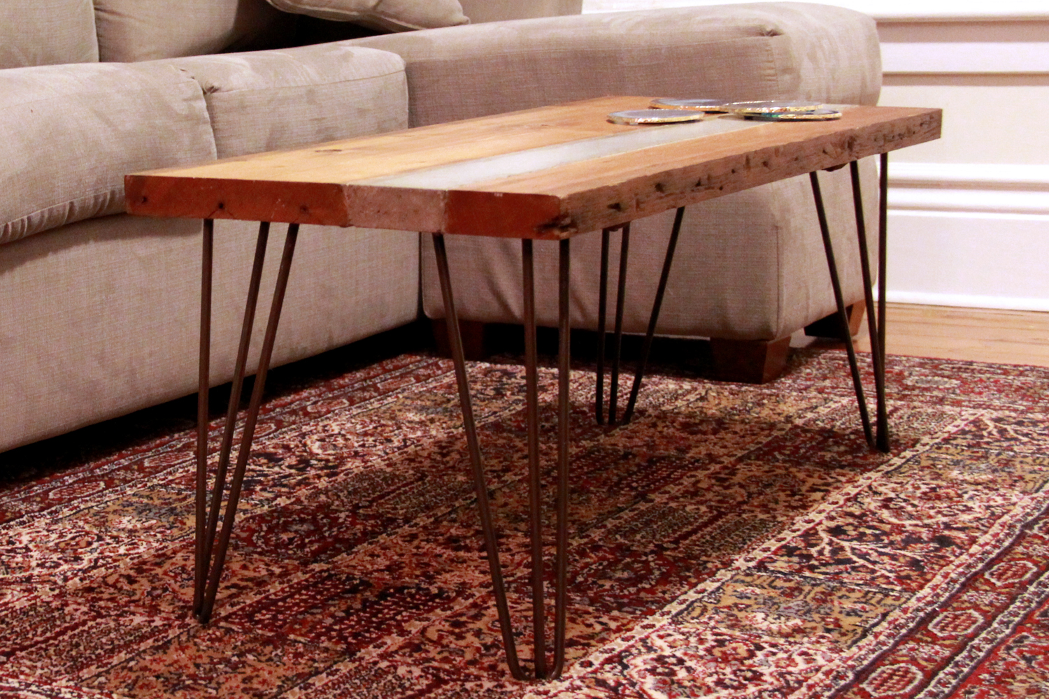 Reclaimed Wood and Concrete Coffee Table | Riverview Design Solutions | Prescott Ontario