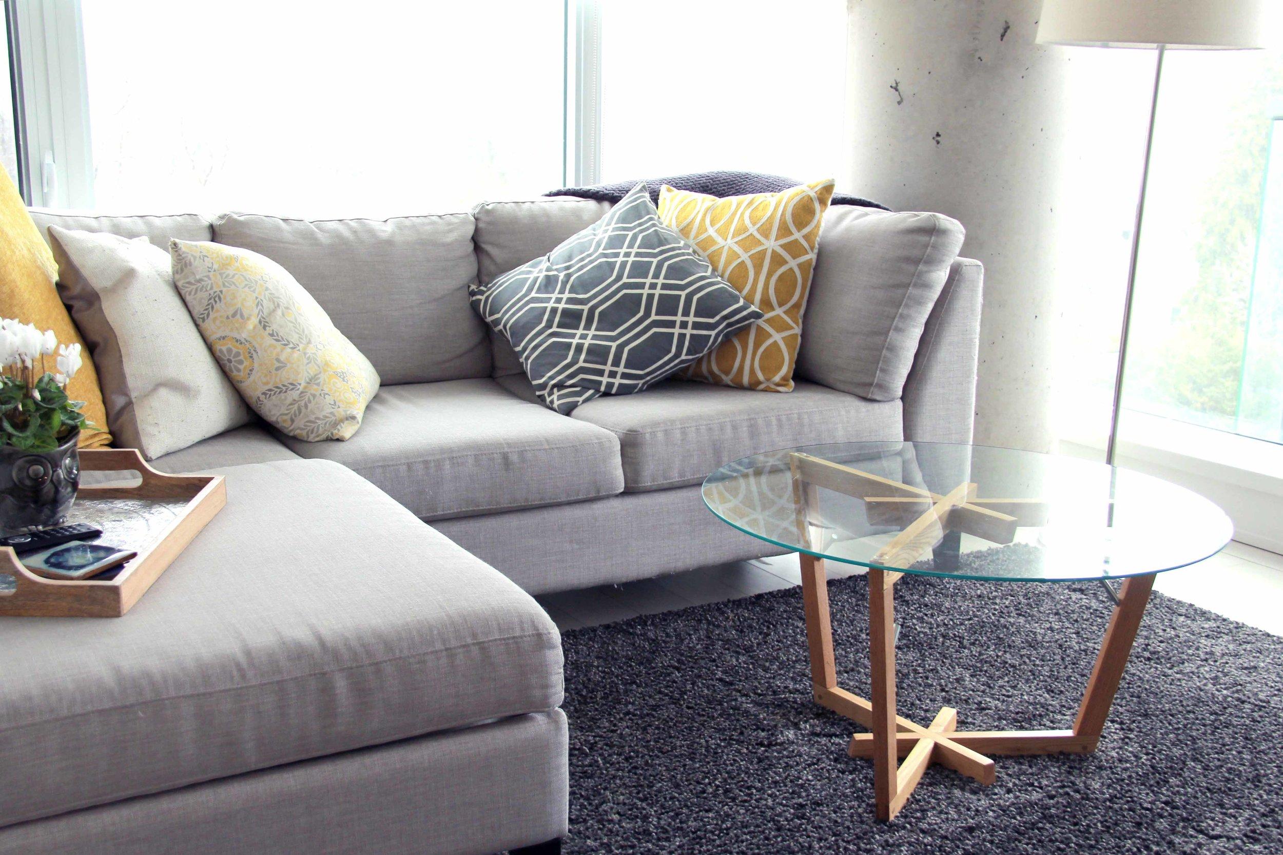 Riverview Design Solutions - Scandinavian Coffee Table Glass Top - Mid Century Design.jpg