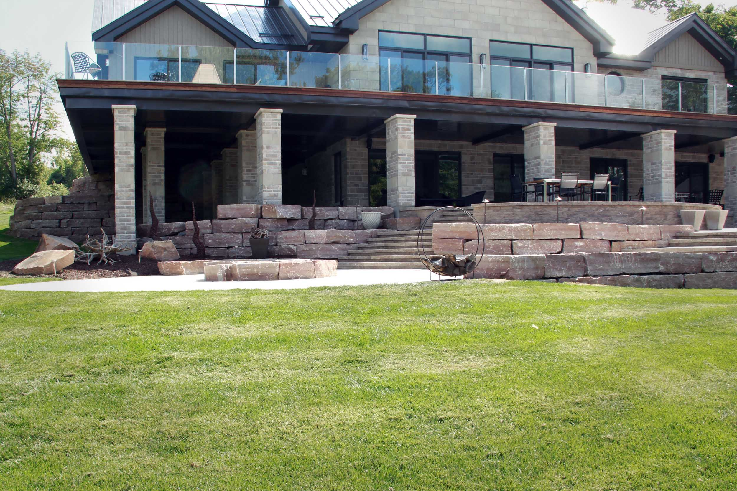 Riverview Design Solutions - Landscape Architecture - Brockville Ontario - Thousand Islands Waterfront Home - Patio.jpg