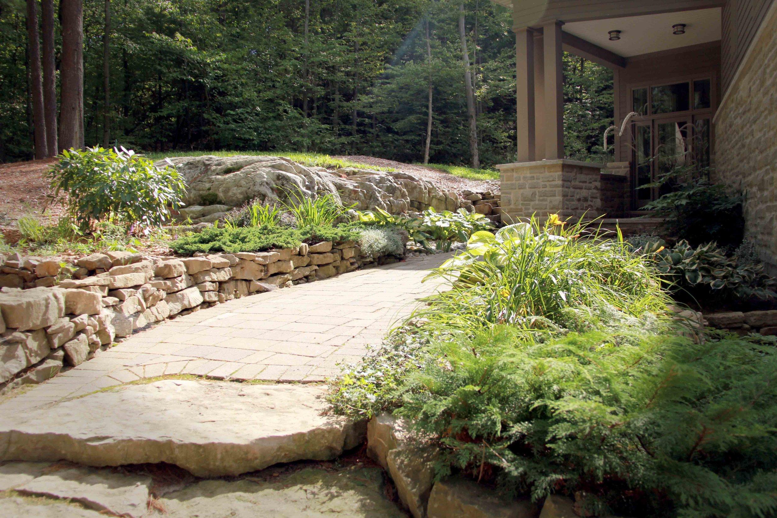 Riverview design Solutions - Naturalized Entrance Design - Forest Landscape.jpg
